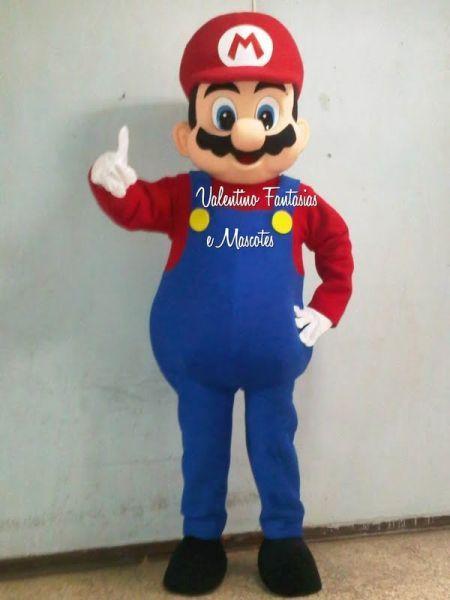 Fantasia Super Mario Bros. Luxo - VALENTINO FANTASIAS BONECOS E MASCOTES 48fa1a8c1c8